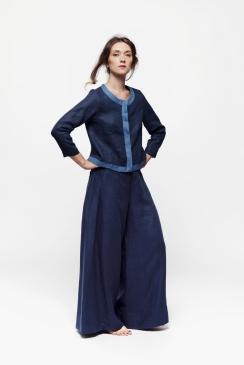 Caterina L. | giaccia in lino - Teapot | pantalone in lino